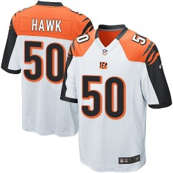 Cincinnati Bengals A.J. Hawk Official Nike White Game Adult Road NFL Jersey