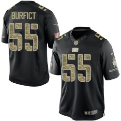 Cincinnati Bengals Vontaze Burfict Official Nike Black Limited Adult Salute to Service NFL Jersey