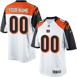 Nike Cincinnati Bengals Men's Customized Limited White Road Jersey