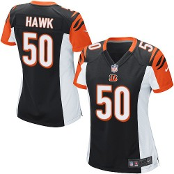 Cincinnati Bengals A.J. Hawk Official Nike Black Game Women's Home NFL Jersey
