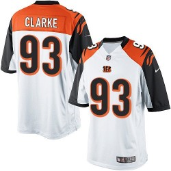 Cincinnati Bengals Will Clarke Official Nike White Limited Adult Road NFL Jersey