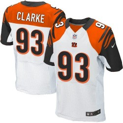 Cincinnati Bengals Will Clarke Official Nike White Elite Adult Road NFL Jersey