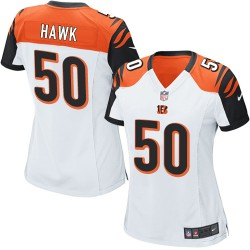 Cincinnati Bengals A.J. Hawk Official Nike White Game Women's Road NFL Jersey