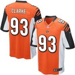 Cincinnati Bengals Will Clarke Official Nike Orange Game Adult Alternate NFL Jersey
