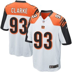 Cincinnati Bengals Will Clarke Official Nike White Game Adult Road NFL Jersey