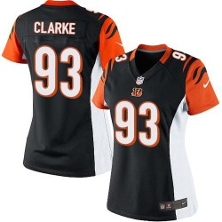 Cincinnati Bengals Will Clarke Official Nike Black Limited Women's Home NFL Jersey