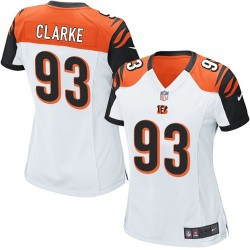 Cincinnati Bengals Will Clarke Official Nike White Limited Women's Road NFL Jersey