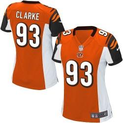 Cincinnati Bengals Will Clarke Official Nike Orange Elite Women's Alternate NFL Jersey