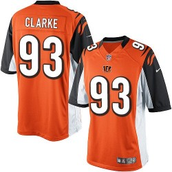 Cincinnati Bengals Will Clarke Official Nike Orange Limited Youth Alternate NFL Jersey