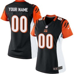 Nike Cincinnati Bengals Women's Customized Elite Black Home Jersey