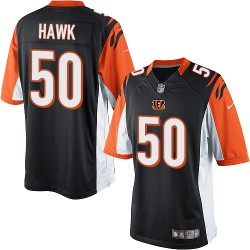 Cincinnati Bengals A.J. Hawk Official Nike Black Elite Youth Home NFL Jersey