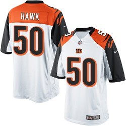 Cincinnati Bengals A.J. Hawk Official Nike White Elite Youth Road NFL Jersey