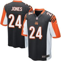 Cincinnati Bengals Adam Jones Official Nike Black Game Adult Home NFL Jersey