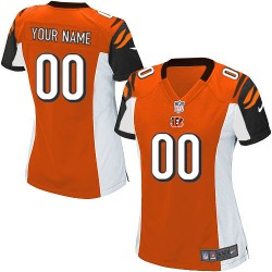 Nike Cincinnati Bengals Women's Customized Elite Orange Alternate Jersey