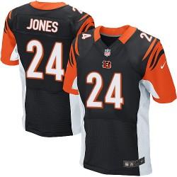 Cincinnati Bengals Adam Jones Official Nike Black Elite Adult Home NFL Jersey