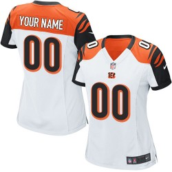 Nike Cincinnati Bengals Women's Customized Elite White Road Jersey