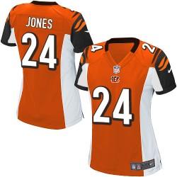 Cincinnati Bengals Adam Jones Official Nike Orange Game Women's Alternate NFL Jersey