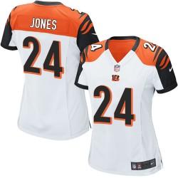 Cincinnati Bengals Adam Jones Official Nike White Limited Women's Road NFL Jersey
