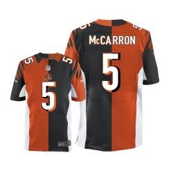 Cincinnati Bengals AJ McCarron Official Nike Two Tone Elite Adult Team/Alternate NFL Jersey