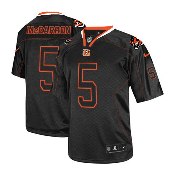 new style d04c9 57165 Cincinnati Bengals AJ McCarron Official Nike Lights Out Black Limited Adult  NFL Jersey