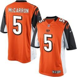 Cincinnati Bengals AJ McCarron Official Nike Orange Limited Adult Alternate NFL Jersey