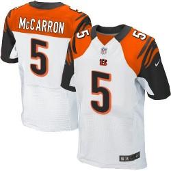 Cincinnati Bengals AJ McCarron Official Nike White Elite Adult Road NFL Jersey