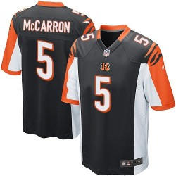 Cincinnati Bengals AJ McCarron Official Nike Black Game Adult Home NFL Jersey