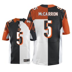 Cincinnati Bengals AJ McCarron Official Nike Two Tone Limited Adult Team/Road NFL Jersey