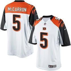Cincinnati Bengals AJ McCarron Official Nike White Limited Adult Road NFL Jersey