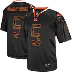 Cincinnati Bengals AJ McCarron Official Nike Black Elite Adult Camo Fashion NFL Jersey