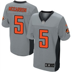 Cincinnati Bengals AJ McCarron Official Nike Grey Shadow Elite Adult NFL Jersey