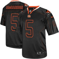 Cincinnati Bengals AJ McCarron Official Nike Lights Out Black Elite Adult NFL Jersey