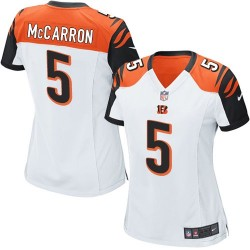 Cincinnati Bengals AJ McCarron Official Nike White Limited Women's Road NFL Jersey