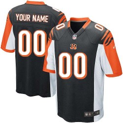 Nike Cincinnati Bengals Youth Customized Elite Black Home Jersey