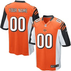 Nike Cincinnati Bengals Youth Customized Elite Orange Alternate Jersey
