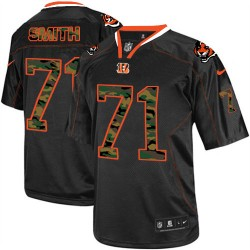 Cincinnati Bengals Andre Smith Official Nike Black Elite Adult Camo Fashion NFL Jersey