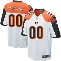 Nike Cincinnati Bengals Youth Customized Elite White Road Jersey