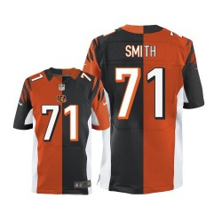 Cincinnati Bengals Andre Smith Official Nike Two Tone Limited Adult Team/Alternate NFL Jersey