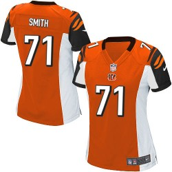 Cincinnati Bengals Andre Smith Official Nike Orange Elite Women's Alternate NFL Jersey