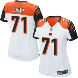 Cincinnati Bengals Andre Smith Official Nike White Elite Women's Road NFL Jersey