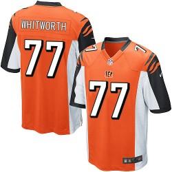 Cincinnati Bengals Andrew Whitworth Official Nike Orange Game Adult Alternate NFL Jersey