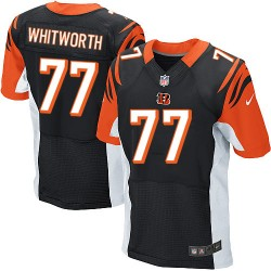 Cincinnati Bengals Andrew Whitworth Official Nike Black Elite Adult Home NFL Jersey