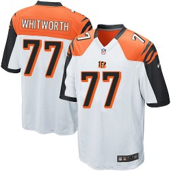 Cincinnati Bengals Andrew Whitworth Official Nike White Game Adult Road NFL Jersey