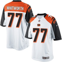 Cincinnati Bengals Andrew Whitworth Official Nike White Limited Adult Road NFL Jersey