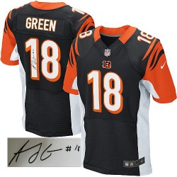 Cincinnati Bengals A.J. Green Official Nike Black Elite Adult Autographed Home NFL Jersey