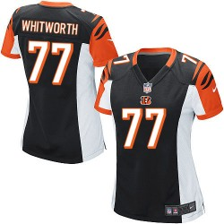 Cincinnati Bengals Andrew Whitworth Official Nike Black Game Women's Home NFL Jersey