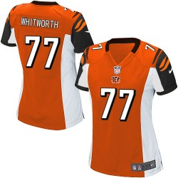 Cincinnati Bengals Andrew Whitworth Official Nike Orange Game Women's Alternate NFL Jersey