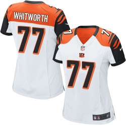 Cincinnati Bengals Andrew Whitworth Official Nike White Game Women's Road NFL Jersey