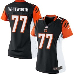 Cincinnati Bengals Andrew Whitworth Official Nike Black Limited Women's Home NFL Jersey