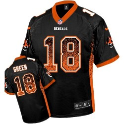 Cincinnati Bengals A.J. Green Official Nike Black Elite Adult Drift Fashion NFL Jersey